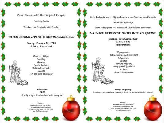 Second Anual Christmas Carolling